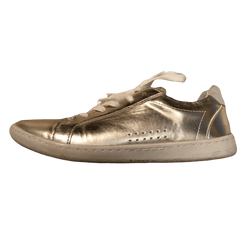 Gold Zara sneakers