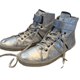 Zara Metallic Distressed Cool High Tops