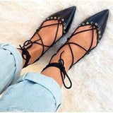 Zara Lace Up Flats - Shoe Bank