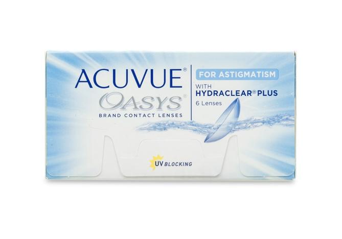 J&J Acuvue Oasys for Astigmatism with hydraclear PLUS