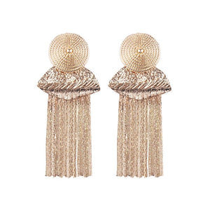 Gold Color Fringe Earrings