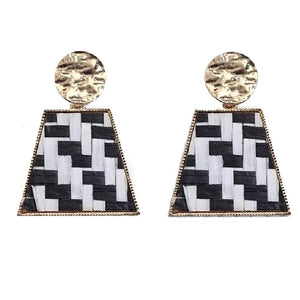 Geometric Boho Knit Earrings