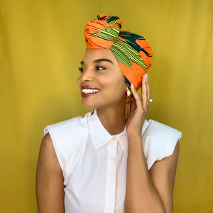 Queen Headwrap (Summer Garden)