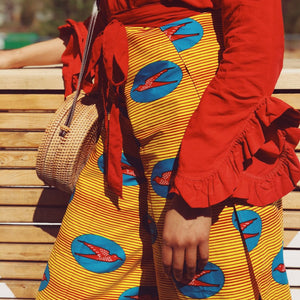 Wrap Pants (Red-Yellow)