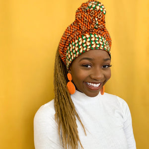 Queen Headwrap (Orange Gold)