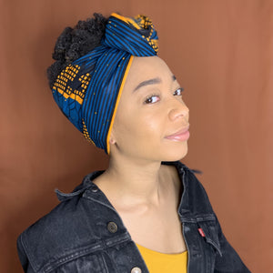 Queen Headwrap (Dark Blue)