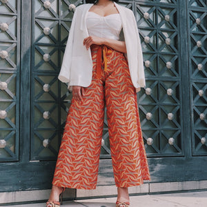 Wrap Pants (Orange)