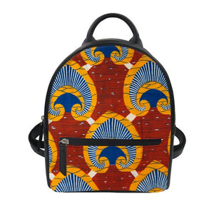 African Print Mini Backpack