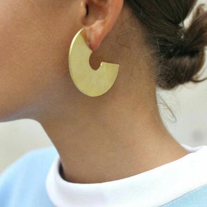 Gold Color Round Hoop Earrings