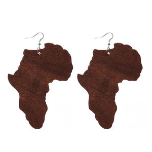 Africa Wood  Earrings