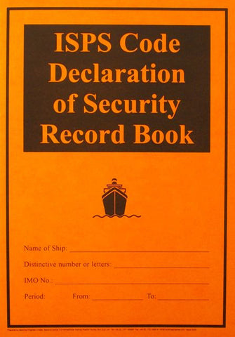 ISPS Code Declaration of Security Record Book
