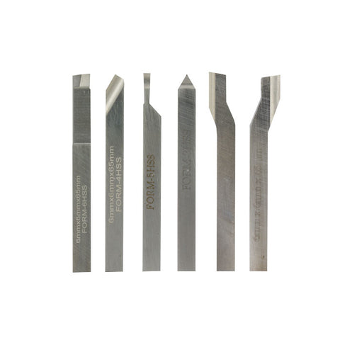 6-piece turning tool set for FD 150/E