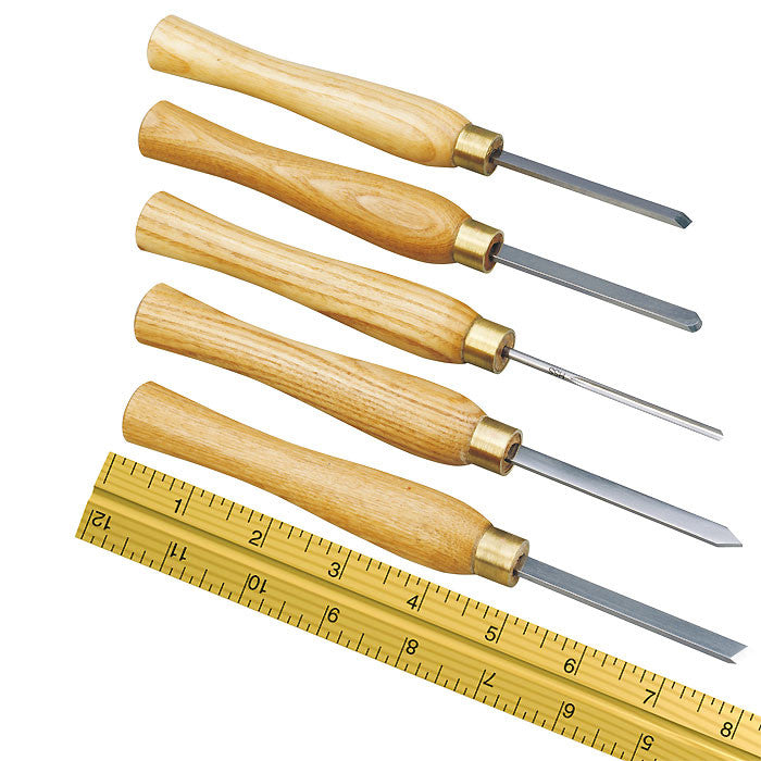 Five piece turning tool set in box