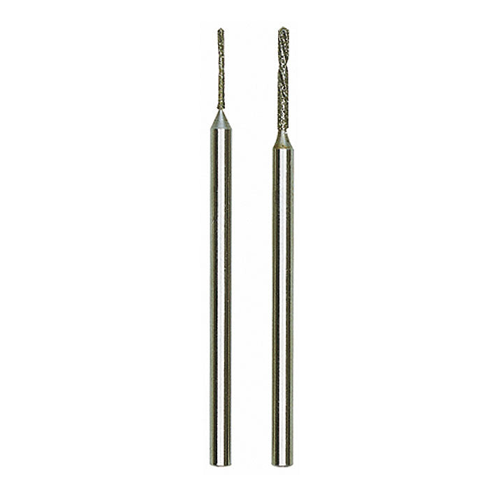 "Diamond twist drills 2 pcs., Ø 1/32"" + 3/64"" (0,8 + 1,2 mm)"