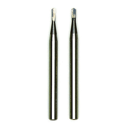 "Tungsten carbide micro drills # 56 & # 60, 2 pcs. (Ø 1/32"" & 3/64"")"