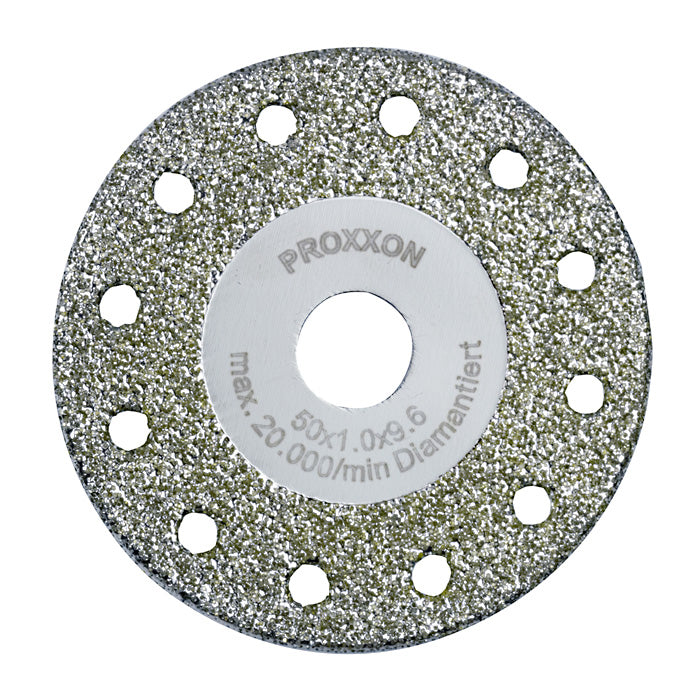 Diamond-coated cutting and roughing disc