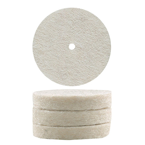 "Felt polishing wheels, 10 pcs., Ø 7/8"" x 5/32"""