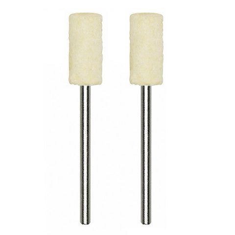 Felt polishing bit, cylindrical, 2 pcs.