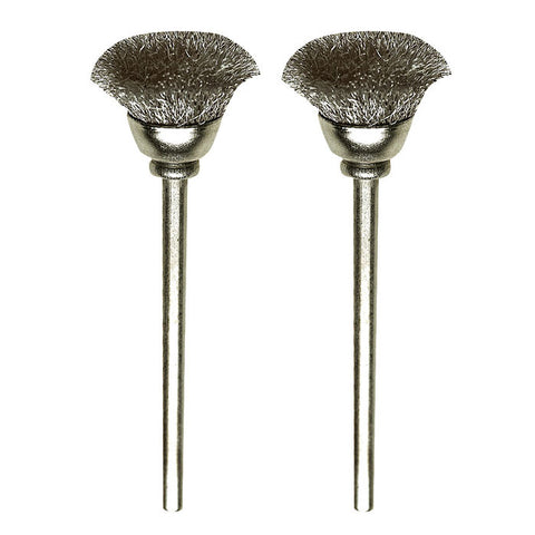 Carbon steel cup brushes, 2 pcs., Ø 33/64""