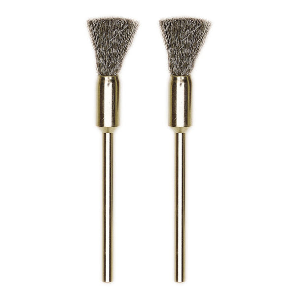 Stainless Steel Bristle Brushes, 2 pcs