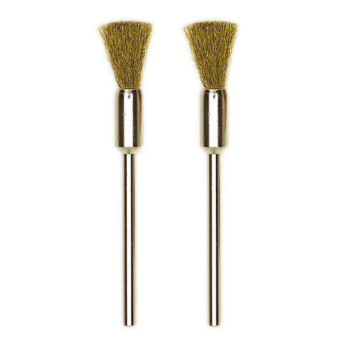 Brass brushes, 2 pcs., Ø 5/16""