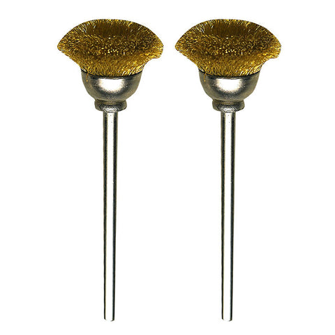 Brass cup brushes, 2 pcs., Ø 33/64""