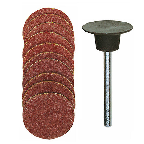 Sanding pad with 10 sanding discs, 5 each 120 and 150 grit