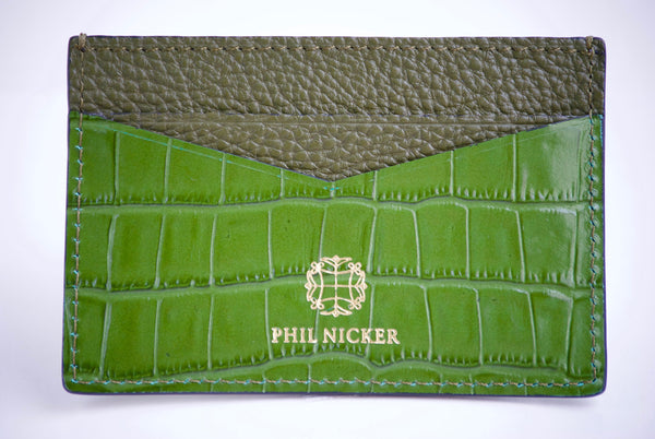Phil nicker crocodile card holder