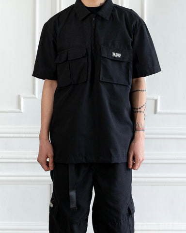RIPSTOP OVERSHIRT - BLACK