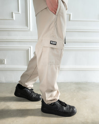 RIPSTOP AVIATION CARGO PANTS - SAND