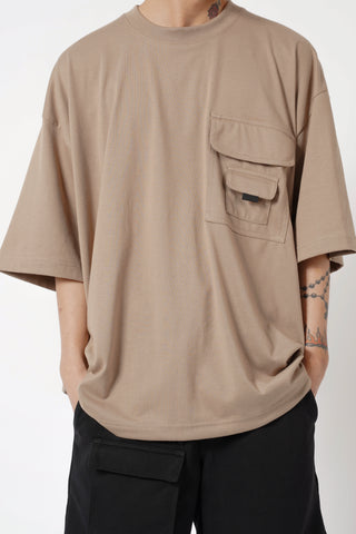 OVERSIZED POCKET TEE - KHAKI