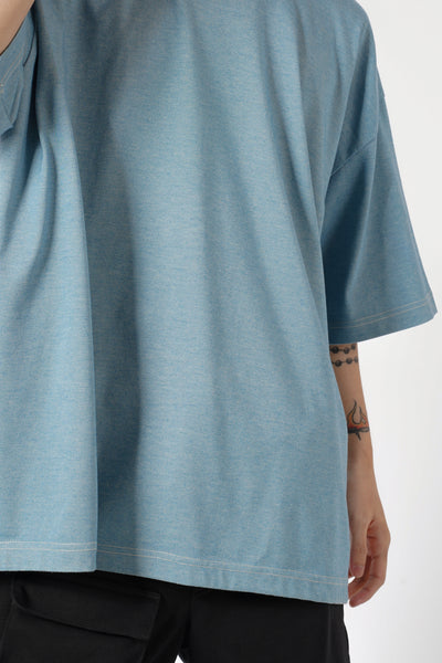 VINTAGE ACID WASH OVERSIZED TEE - LIGHT BLUE