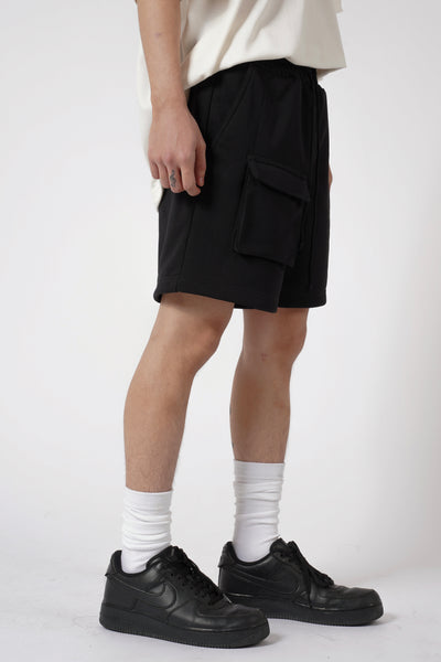 HEAVYWEIGHT FRONT POCKET SHORT - BLACK