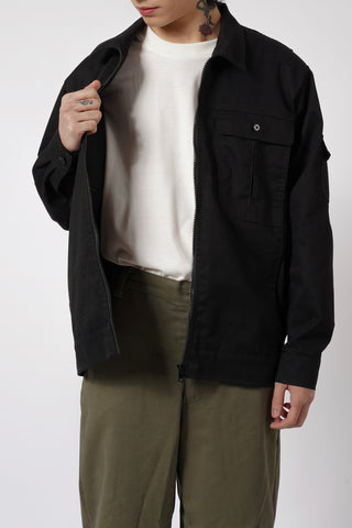 TWILL JACKET - BLACK
