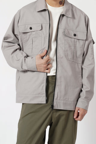 TWILL JACKET - SILVER GRAY