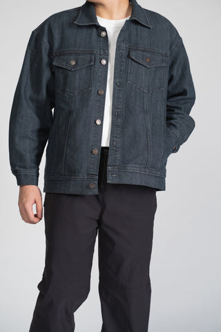 DENIM TRUCKER JACKET - DARK