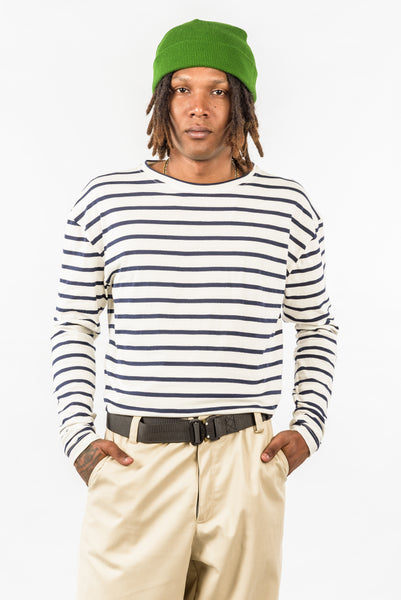 STRIPED  LONGSLEEVE - WHITE