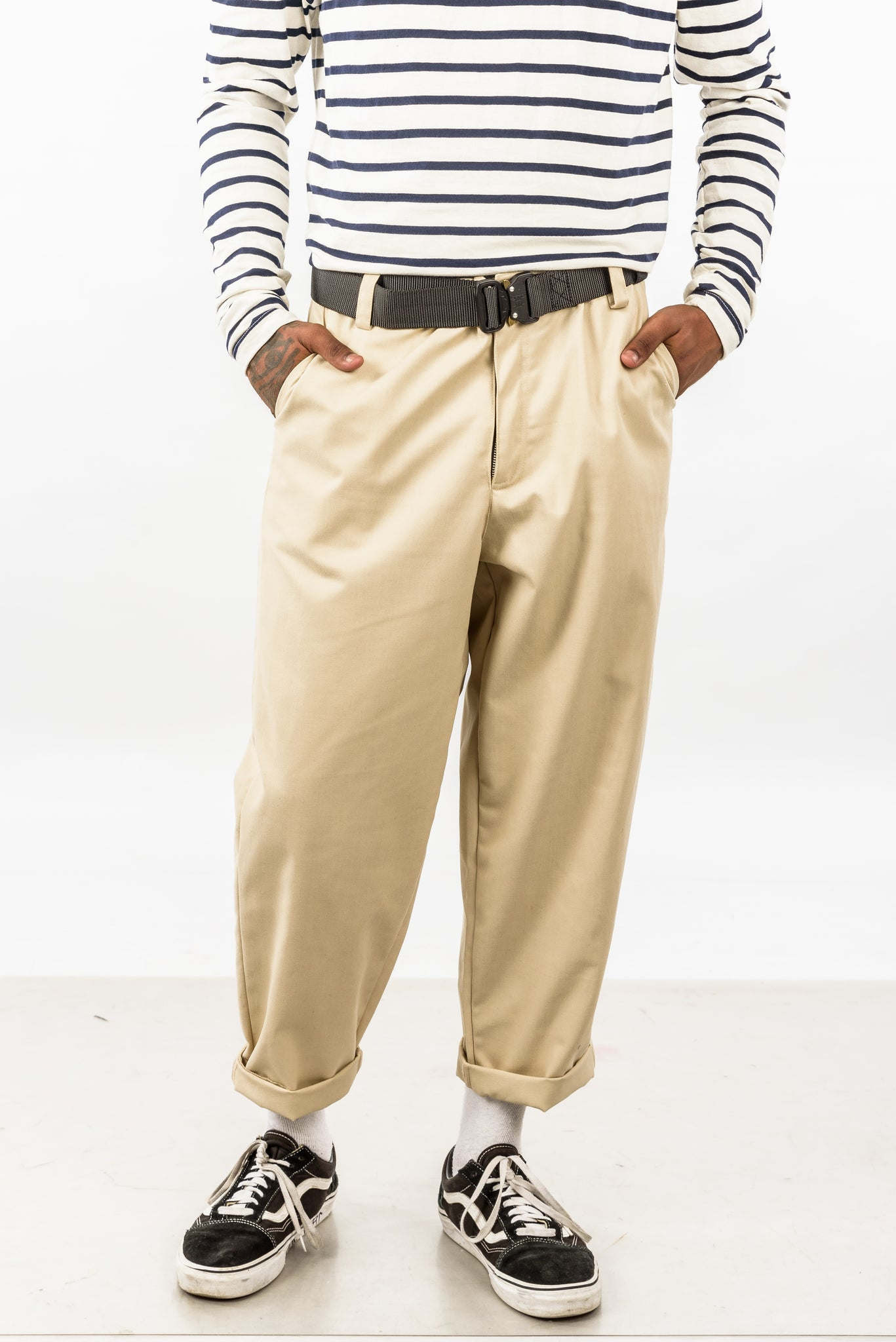 CROPPED TROUSER - OFF WHITE