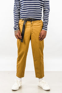 CROPPED TROUSER - BROWN