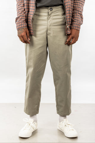 CROPPED TROUSER - GRAY