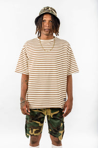 OVERSIZED STRIPED - BROWN