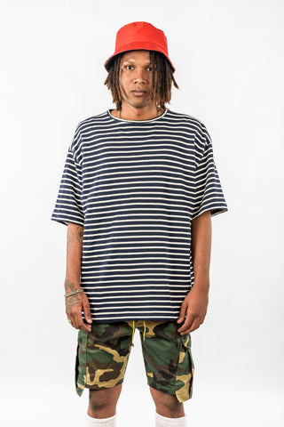 OVERSIZED STRIPED - NAVY