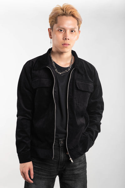 CORDUROY JACKET - BLACK