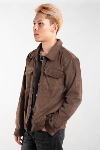 CORDUROY JACKET - BROWN (BUY 1 GET 1)