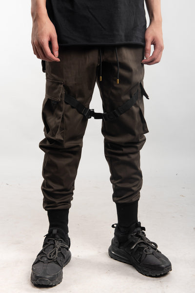 COMBAT CARGO PANTS - DARK GRAY