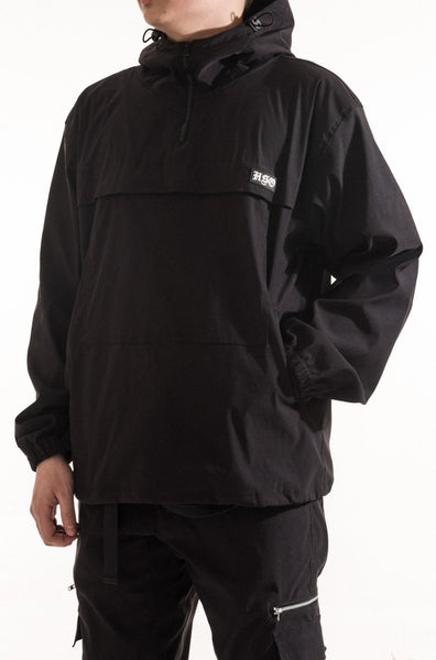 TECH WINDBREAKER JACKET - BLACK