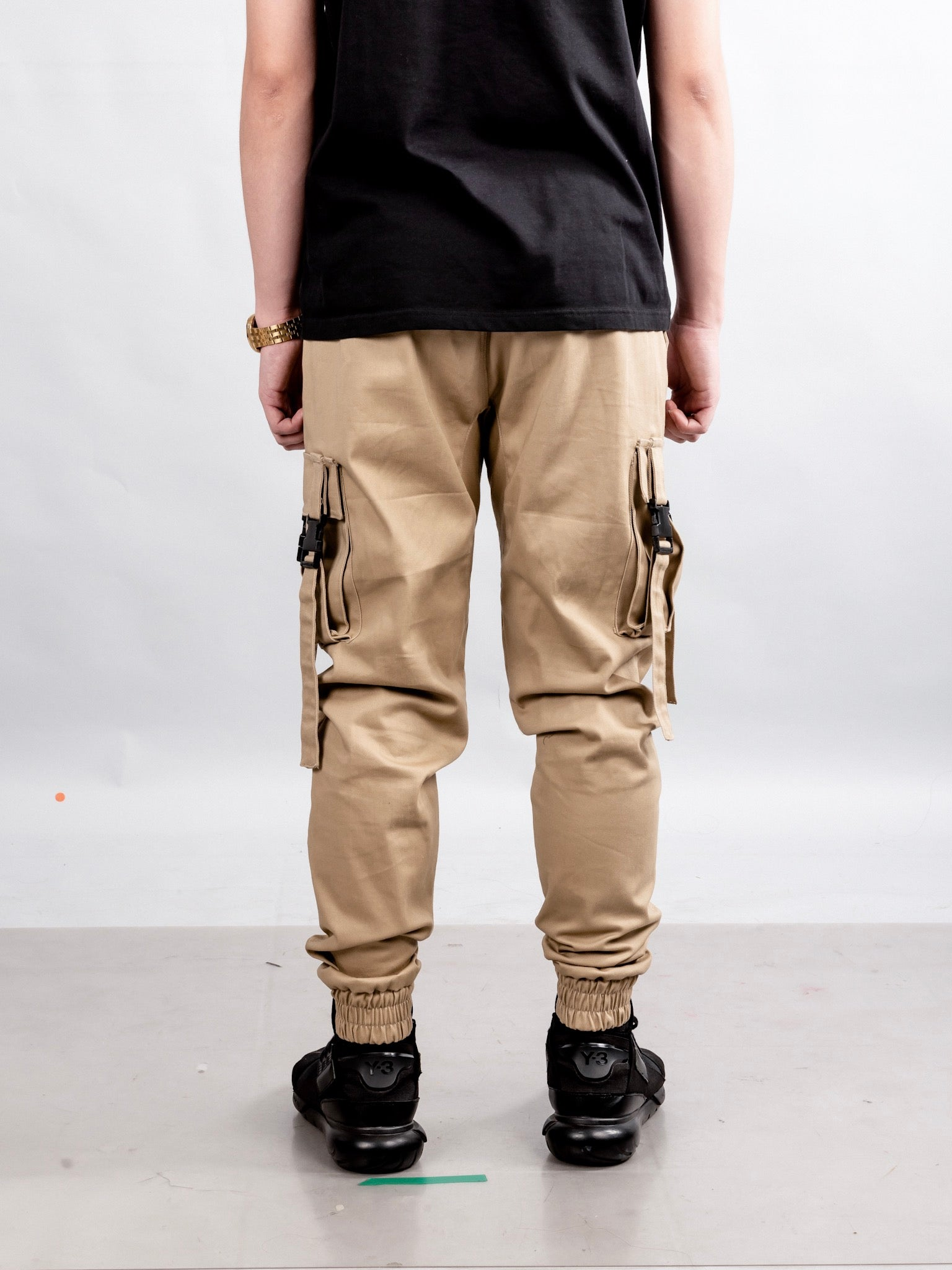 4 POCKETS BUCKLE PANTS - KHAKI
