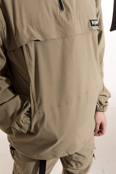 TECH WINDBREAKER JACKET - KHAKI