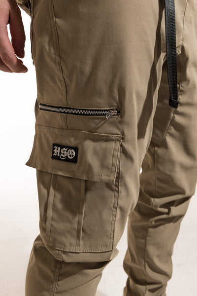 TECH CARGO PANTS (8 POCKETS) - KHAKI