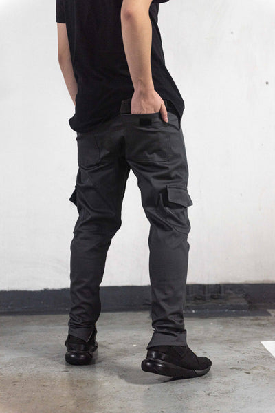 *LIMITED EDITION* CARGO PANTS WITH ZIP - CHARCOAL
